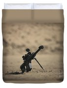Barrett M82a1 Rifle Sits Ready Duvet Cover
