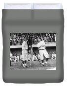 Baseball Players, 1920s Duvet Cover