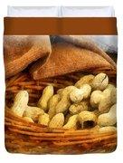 Basket Of Peanuts Duvet Cover