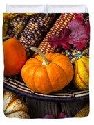 Basketful Of Autumn Duvet Cover