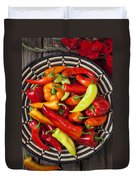 Basketful Of Peppers Duvet Cover