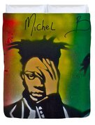 Basquait Me Myself And I Duvet Cover