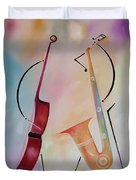 Bass And Sax Duvet Cover