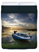 Bass Fishin' Evening Duvet Cover