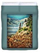 Bass Harbor - Acadia Np Duvet Cover