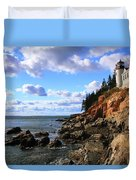 Bass Harbor Head Seascape Duvet Cover