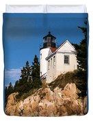 Bass Harbor Light Acadia National Park Maine Duvet Cover