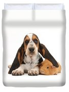 Basset Hound And Guinea Pig Duvet Cover