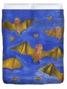 Bat People At The Pipistrelle Party Duvet Cover