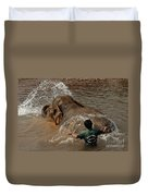 Bath Time In Laos Duvet Cover