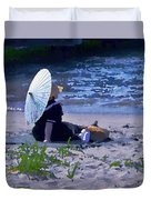Bather By The Bay - Square Cropping Duvet Cover