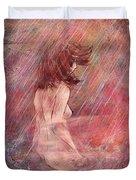 Bathing In The Rain Duvet Cover