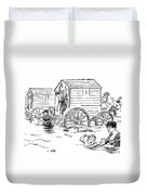 Bathing Machine, 1888 Duvet Cover