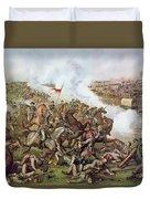 Battle Of Five Forks Virginia 1st April 1865 Duvet Cover by American School
