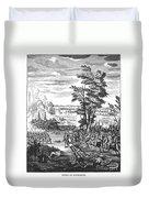 Battle Of Malplaquet, 1709 Duvet Cover