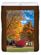 Battle Of The Maples Duvet Cover