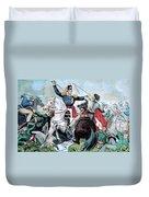 Battle Of Veracruz, Mexican-american Duvet Cover