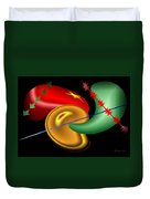 Baubles And Barbs Duvet Cover