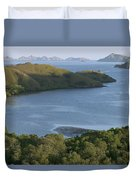 Bay And Outlying Islands Off Rinca Duvet Cover