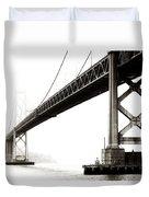 Bay Bridge Duvet Cover by Jarrod Erbe