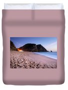 Beach At Evening Duvet Cover by Carlos Caetano