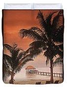 Beach Belize Duvet Cover