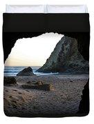 Beach Cave At Bandon Oregon Duvet Cover
