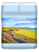 Beach Cliffs South Of San Onofre Duvet Cover