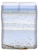Beach Detail On Pacific Ocean Coast Duvet Cover