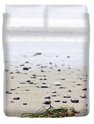 Beach Detail On Pacific Ocean Coast Of Canada Duvet Cover by Elena Elisseeva