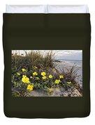 Beach Evening Primrose On Folly Beach - D001782 Duvet Cover
