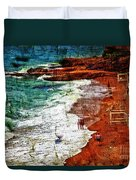 Beach Fantasy Duvet Cover by Madeline Ellis