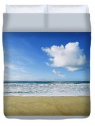 Beach, Ocean, Sky, And Clouds Duvet Cover