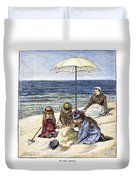 Beach Scene, 1879 Duvet Cover