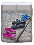 Beach Shoes Duvet Cover