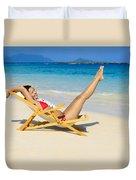 Beach Stretching Duvet Cover