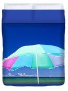 Beach Umbrella At The Shore Duvet Cover
