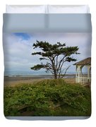 Beachside Gazebo Duvet Cover