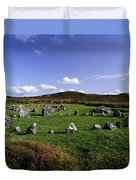 Beaghmore Stone Circles, Co. Tyrone Duvet Cover by The Irish Image Collection