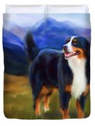 Bear - Bernese Mountain Dog Duvet Cover by Michelle Wrighton