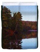 Bear Creek Lake In The Poconos Duvet Cover