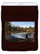 Bear Creek Lake Waterfall Duvet Cover