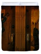Bear Doors Carved Duvet Cover