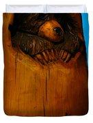Bear In Log Duvet Cover