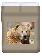 Bear Rasberry Duvet Cover