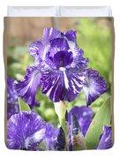 Bearded Iris Iris Germanica Batik Duvet Cover