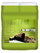 Bearly Swim Duvet Cover