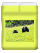 Bears In A Peaceful Meadow1 Duvet Cover