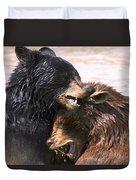 Bears In Water Duvet Cover
