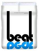 Beat Poster Duvet Cover